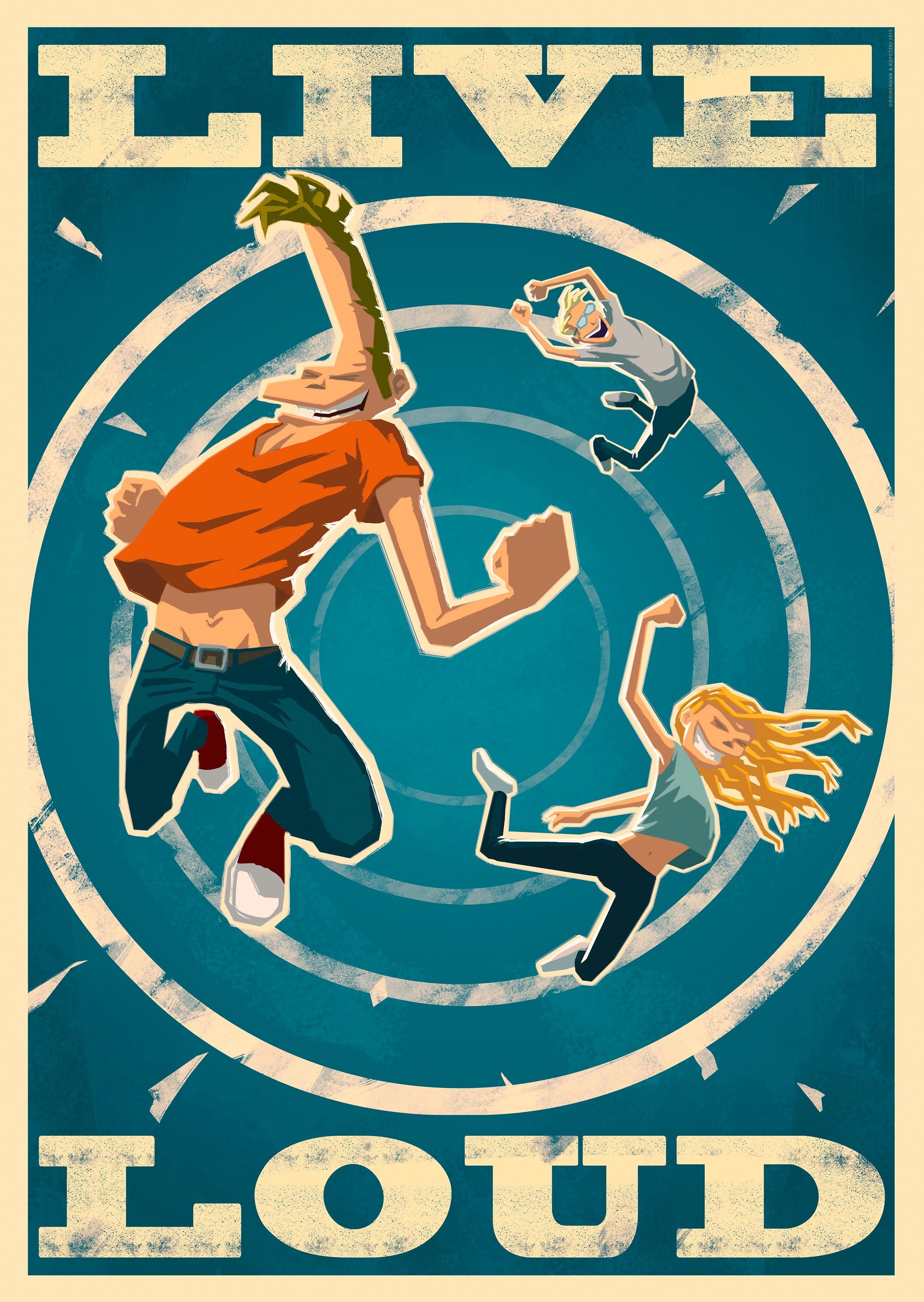 Bringmann&Kopetzki Live Loud Poster Poster, 59,4cm x 84cm