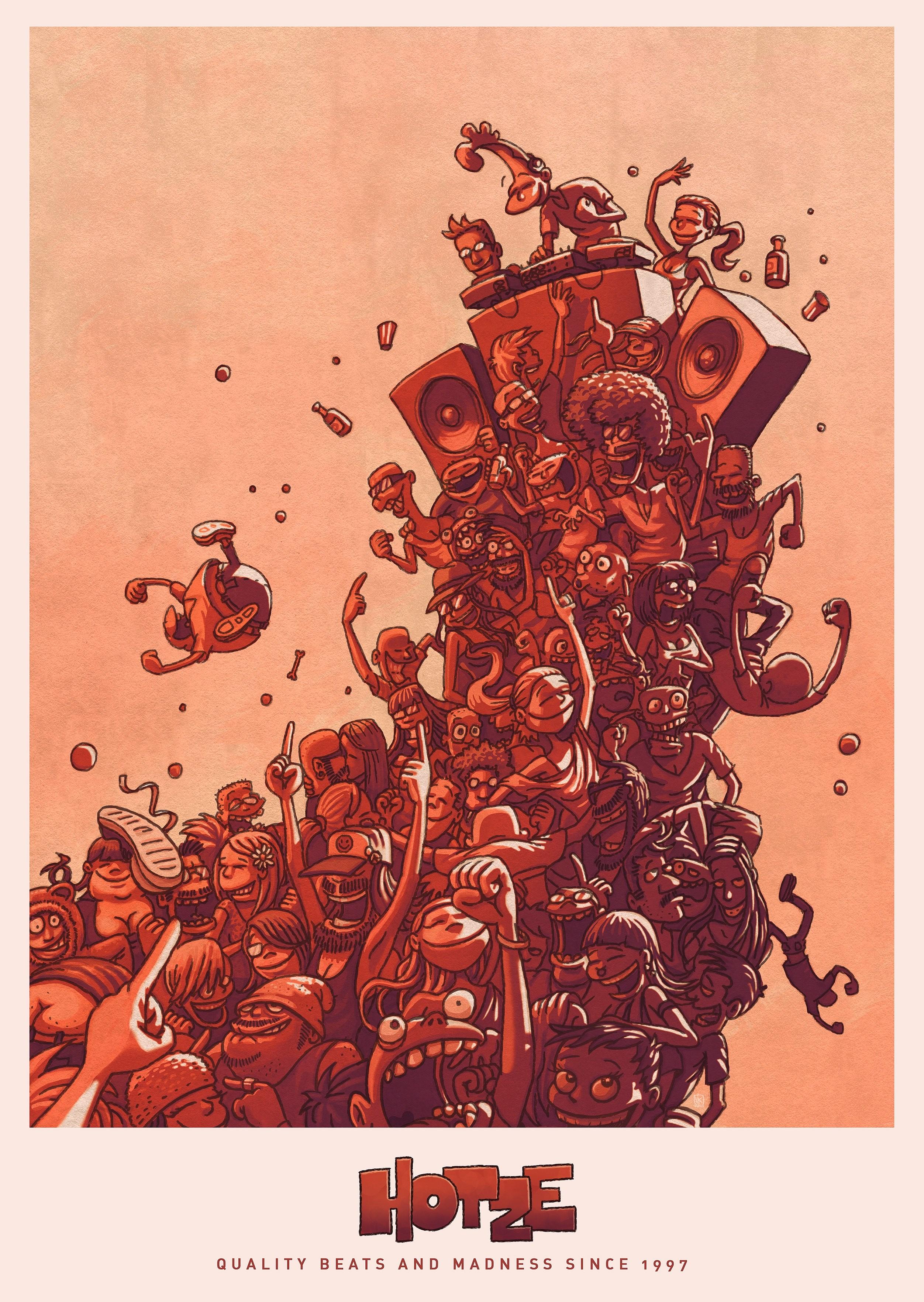 Bringmann&Kopetzki Quality Beats & Madness Poster Poster, 42cm x 59,4cm