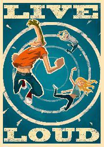 Bringmann&Kopetzki Live Loud Poster Poster 42cm x 59,4cm